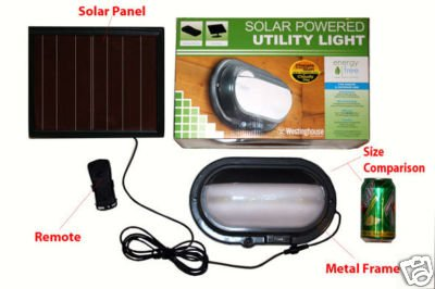 Solar Light by Westinghouse for Utility Shed Barn With Remote Control Amorphous Solar Panel