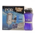 PUR Faucet Mount Water Filtration System - 2pk - free sports style water bottle - 3 LEFT!