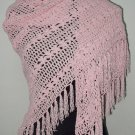 hand crochet pinkshawl,free shipping