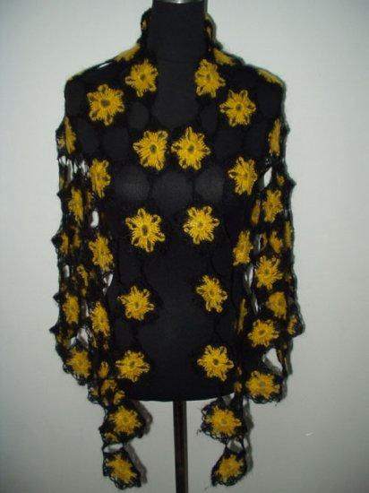 hand crochet flower shawl,free shipping