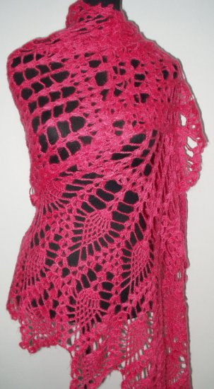 hand crochet rose shawl,free shipping