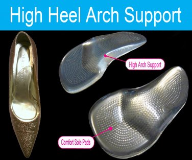 4df8da3cfa High Heels Arch Supports Inserts Foot Arch Pain Insoles Fallen Arch US  8.5-9.5