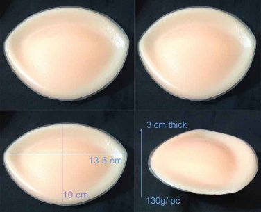 Heavy Bra Inserts Breast Enhancers Push Up Cleavage Increase Cup Size