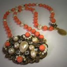 Coral Pearl Necklace by J. Wass in Antique Jewelry Design