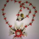 Coral Baroque Pearl Necklace Vintage Inspired by J. Wass Designer Jewelry
