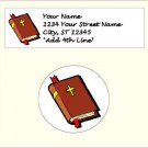 "60 Christian Address Labels & 60 - 1.5"" Envelope Seals - Choose Your Graphic"