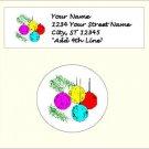 "90 Christmas Address Labels & 96 - 1.2"" Envelope Seals - Choose Your Graphic"