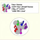 "60 Music Address Labels & 63 - 1"" Envelope Seals - Choose Your Graphic"