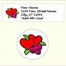 "60 Valentine Address Labels & 60 - 1.5"" Envelope Seals -Chhose Your Graphic"