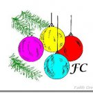 Christmas Note Cards with YOUR Initials - Choose Your Graphic