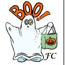Halloween Note Cards with YOUR Initials - Choose Your Graphic