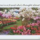 #M4U0273 Flower Garden Friendship Greeting Card