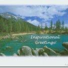 #M4U0486 Scenic Mountain View Inspirational Greeting Card