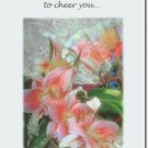 #M4U0429 Pink Floral Arrangement Recovery Greeting Card