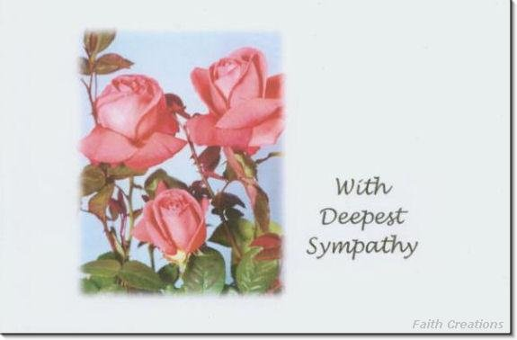 #M4U0138 Pink Roses Sympathy Greeting Card