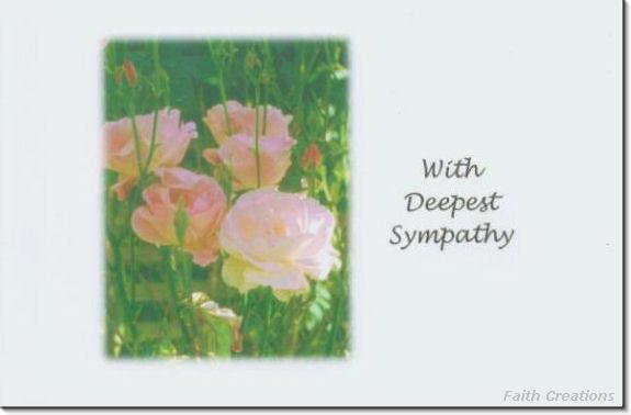 #M4U0156 Light Pink Roses Sympathy Greeting Card