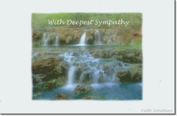 #M4U0477 Scenic View Waterfalls Sympathy Greeting Card