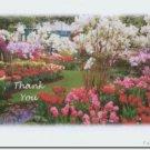 #M4U0166 Flower Garden Thank You Greeting Card