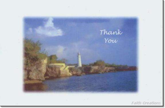 #M4U0167 Lighthouse Thank You Greeting Card