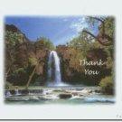 #M4U0168 Waterfall Scenic Thank You Greeting Card
