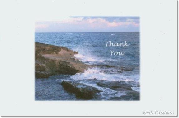 #M4U0170 Scenic Ocean View Thank You Greeting Card