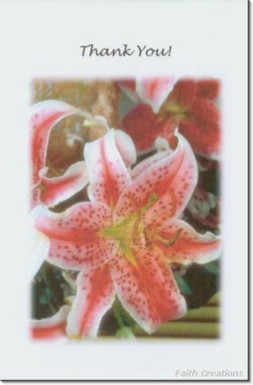 #M4U0244 Floral Flower Thank You Greeting Card