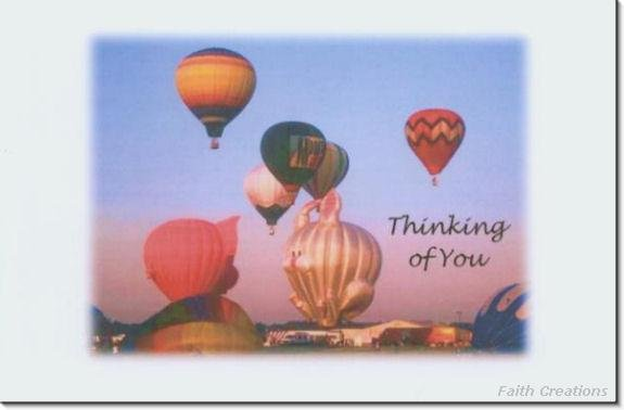 #M4U0159 Hot Air Balloons Thinking of You Greeting Card