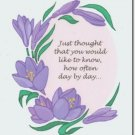 #M4U0270 Lavender Flowers Thinking of You Greeting Card
