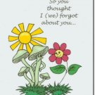 #M4U0400 Smiling Frown Thinking of You Greeting Card