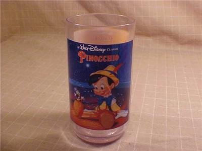 DISNEY CLASSIC PINOCCHIO DRINK GLASS BURGER KING