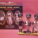 DOUMIT, DUKE & DUFFY TRIPLE BOBBLE HEAD PNC PARK NIB