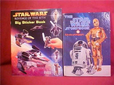 LOT OF 2 STAR WARS STORY BOOK & STICKER BOOK