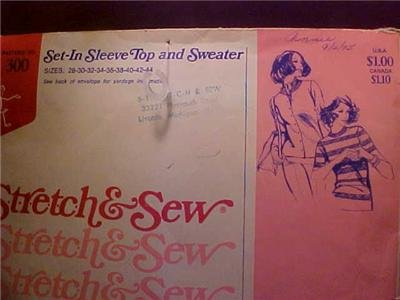 ANN PERSON SEWING PATTERN SET-IN SLEEVE TOP & SWEATER (sold)