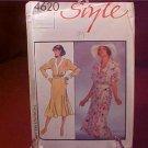 STYLE #4620 DRESS SEWING PATTERN UNCUT