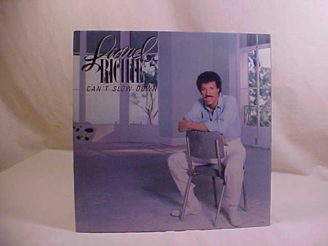 LIONEL RICHIE CAN'T SLOW DOWN LP RECORD ALBUM