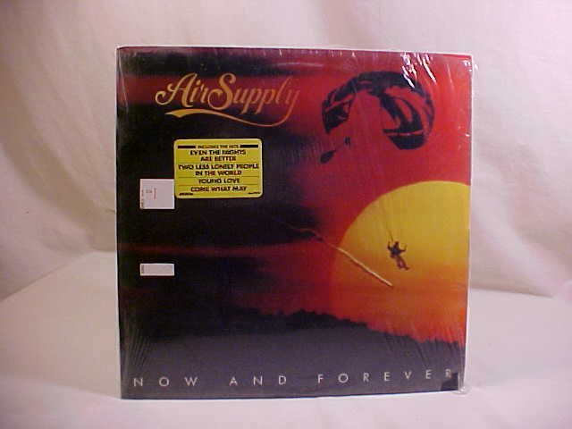 1982 AIR SUPPLY NOW AND FOREVER LP RECORD