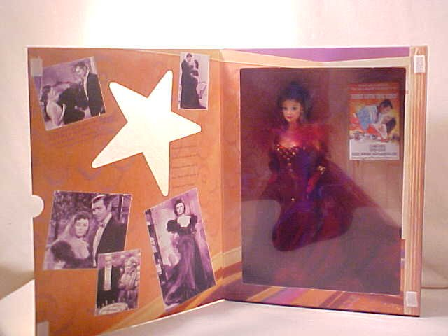 GONE WITH THE WIND BARBIE DOLL SCARLETT OHARA RED DRESS
