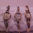 LOT OS 3 VINTAGE LADY'S WRIST WATCH BULOVA & HELBROS