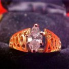 Vintage beautiful 14k Large clear Diamond/stone ring