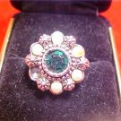 VINTAGE SARAH COVENTRY RHINESTONE FAUX PEARL RING