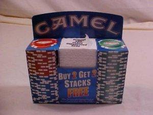 LAS VEGAS CASINO Poker Chips 2 Racks Camel Promo
