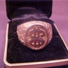 VINTAGE MEN'S DOLLAR SIGN GOLD TONE RING