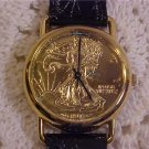 1986 IN GOD WE TRUST GOLD COIN WATCH