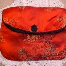 VINTAGE CHINESE SILK CLUTCH PURSE Hand Embroidered