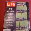 OCTOBER 2 1964 LIFE MAGAZINE THE WARREN REPORT