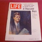 1965 LIFE MAGAZINE THE HISTORIAN RESUMES HIS KENNEDY