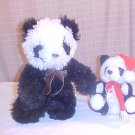 LOT OF 2 PLUSH PANDA BEARS