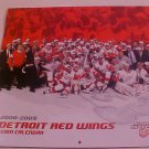 2008-2009 DETROIT RED WINGS TEAM CALENDAR