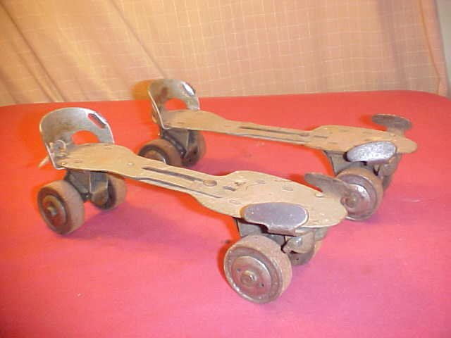 Antique Vintage Roller Skates Metal Wheels 1920 (SOLD)