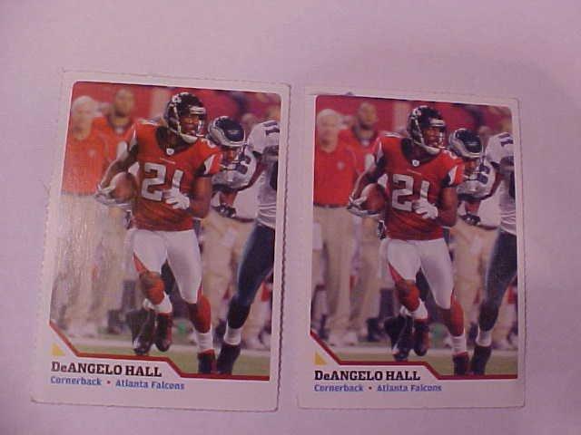 2  ATLANTA FALCONS DeANGELO HALL FOOTBALL TRADING CARD